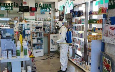 Desinfección ante el COVID-19 en farmacia de Navarra