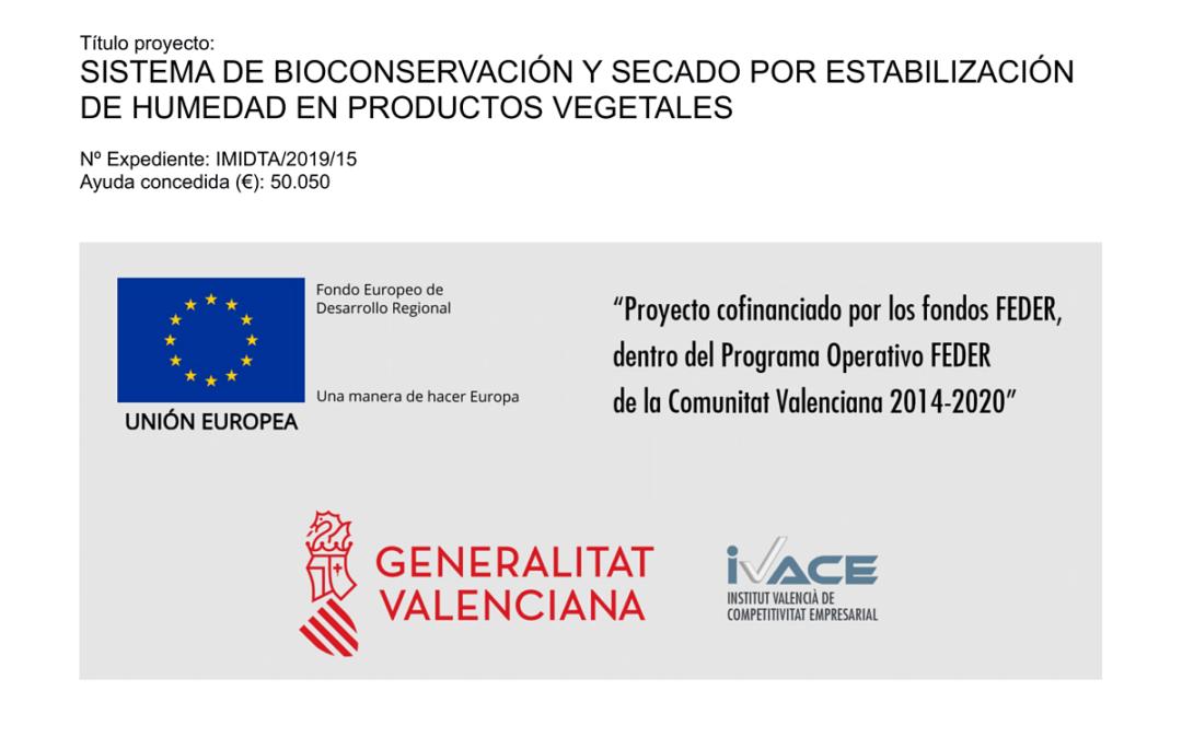 Sistema de bioconservación y secado por estabilización de humedad en productos vegetales